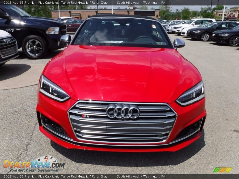 2018 Audi S5 Premium Plus Cabriolet Tango Red Metallic / Rotor Gray Photo #12