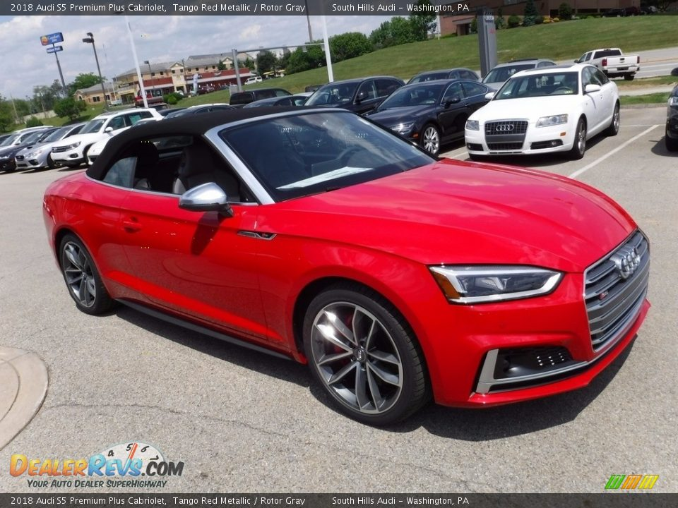 Tango Red Metallic 2018 Audi S5 Premium Plus Cabriolet Photo #13