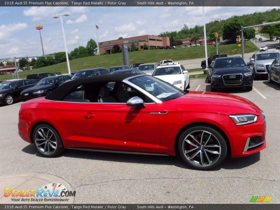 Tango Red Metallic 2018 Audi S5 Premium Plus Cabriolet Photo #14