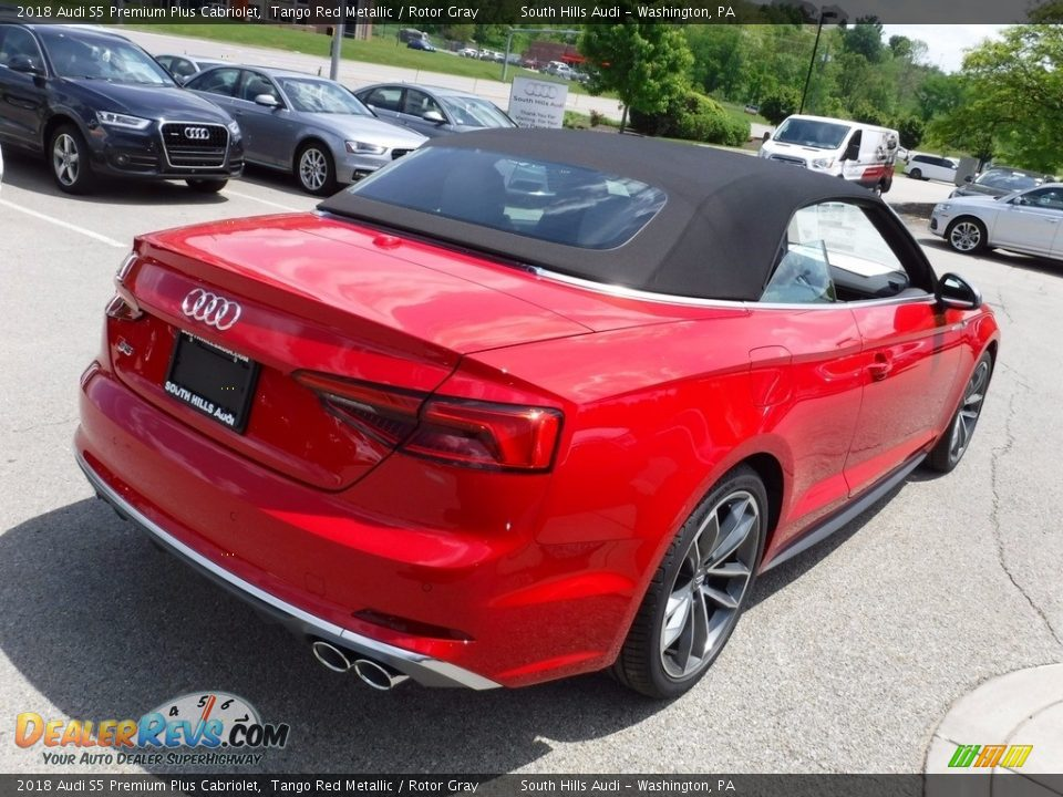 2018 Audi S5 Premium Plus Cabriolet Tango Red Metallic / Rotor Gray Photo #15