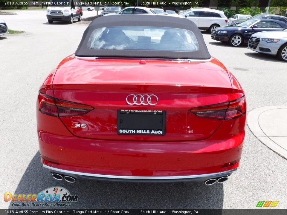 2018 Audi S5 Premium Plus Cabriolet Tango Red Metallic / Rotor Gray Photo #16