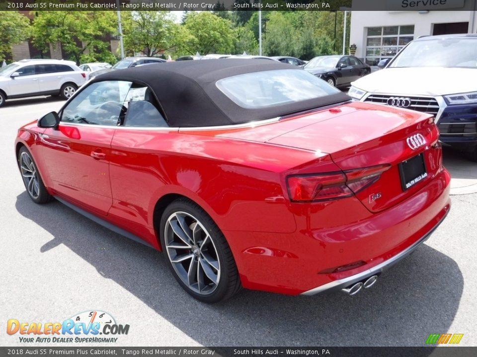 2018 Audi S5 Premium Plus Cabriolet Tango Red Metallic / Rotor Gray Photo #17