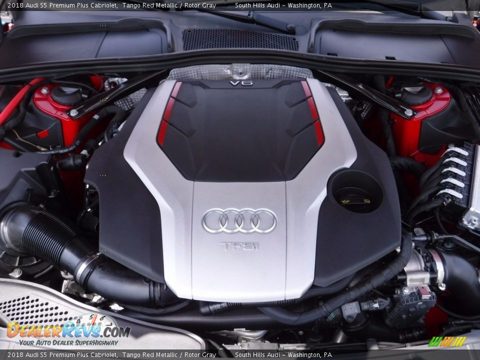 2018 Audi S5 Premium Plus Cabriolet 3.0 Liter Turbocharged TFSI DOHC 24-Valve VVT V6 Engine Photo #21
