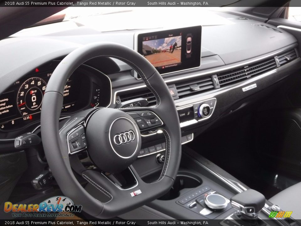 Dashboard of 2018 Audi S5 Premium Plus Cabriolet Photo #22