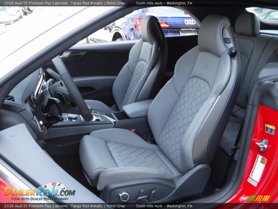 Rotor Gray Interior - 2018 Audi S5 Premium Plus Cabriolet Photo #23