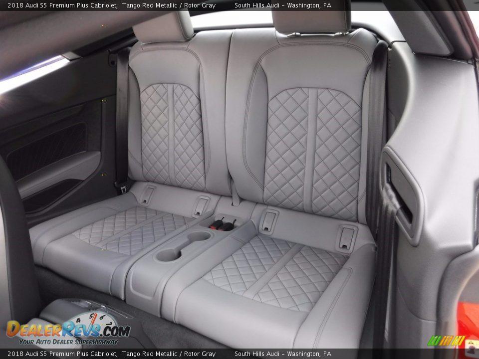 Rear Seat of 2018 Audi S5 Premium Plus Cabriolet Photo #35
