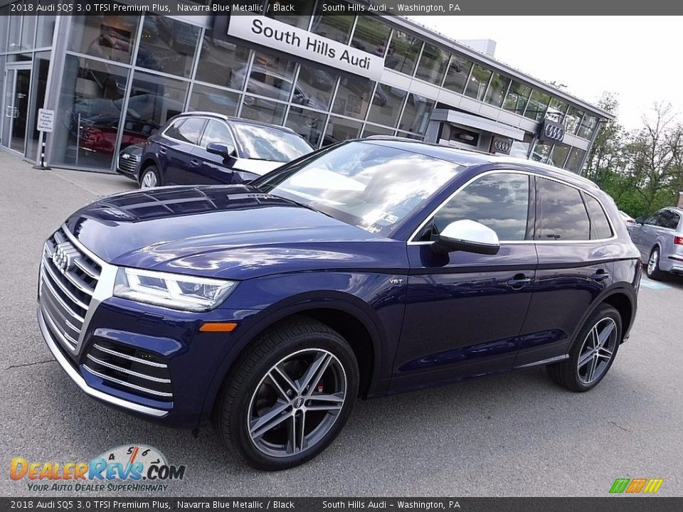 2018 Audi SQ5 3.0 TFSI Premium Plus Navarra Blue Metallic / Black Photo #1