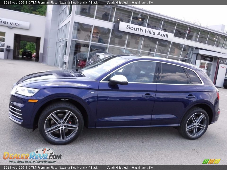 2018 Audi SQ5 3.0 TFSI Premium Plus Navarra Blue Metallic / Black Photo #2