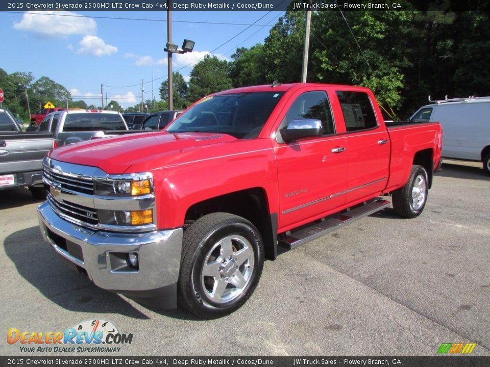2015 Chevrolet Silverado 2500HD LTZ Crew Cab 4x4 Deep Ruby Metallic / Cocoa/Dune Photo #1