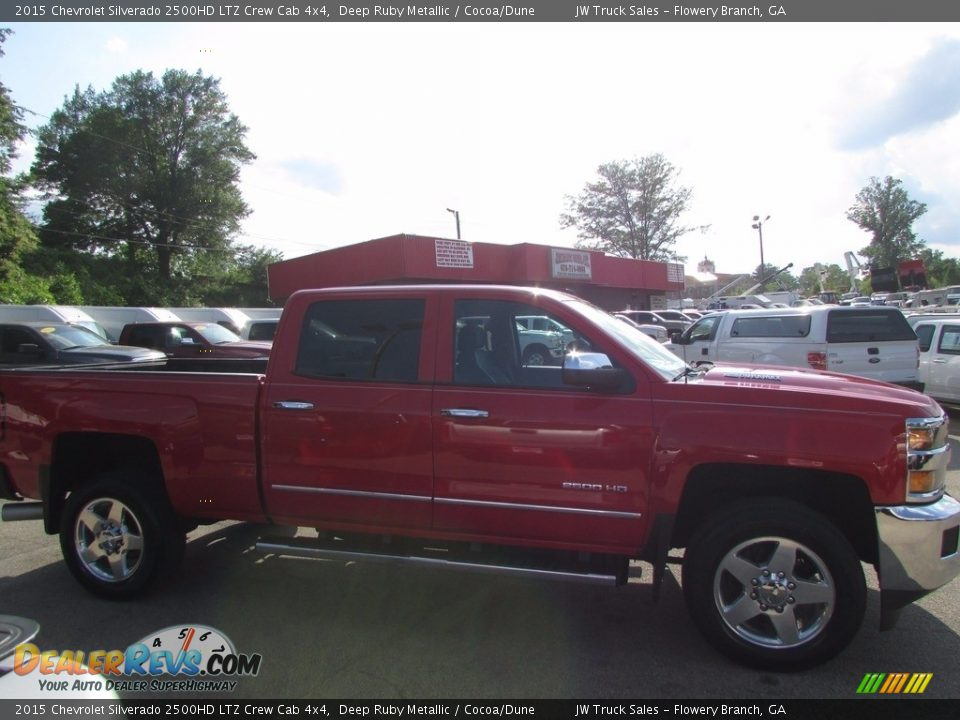 2015 Chevrolet Silverado 2500HD LTZ Crew Cab 4x4 Deep Ruby Metallic / Cocoa/Dune Photo #4