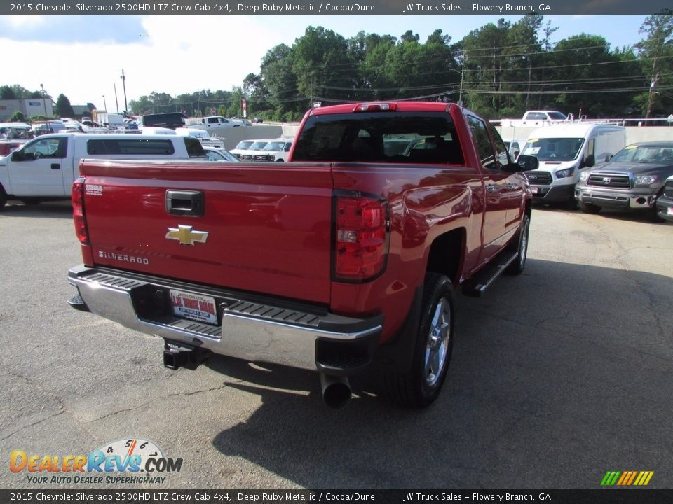 2015 Chevrolet Silverado 2500HD LTZ Crew Cab 4x4 Deep Ruby Metallic / Cocoa/Dune Photo #5