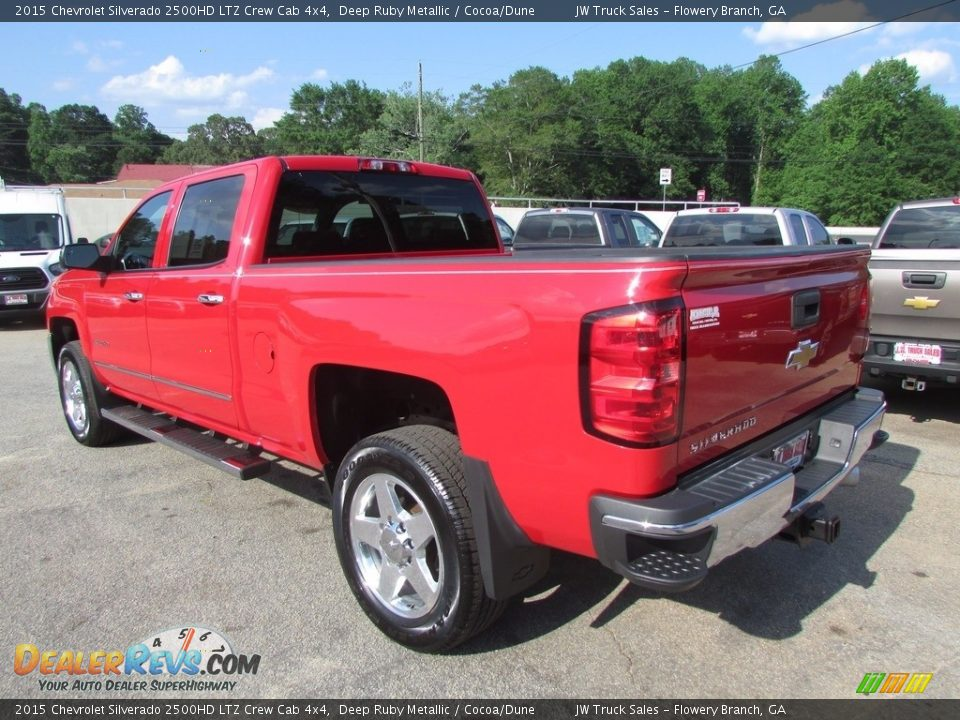 2015 Chevrolet Silverado 2500HD LTZ Crew Cab 4x4 Deep Ruby Metallic / Cocoa/Dune Photo #7