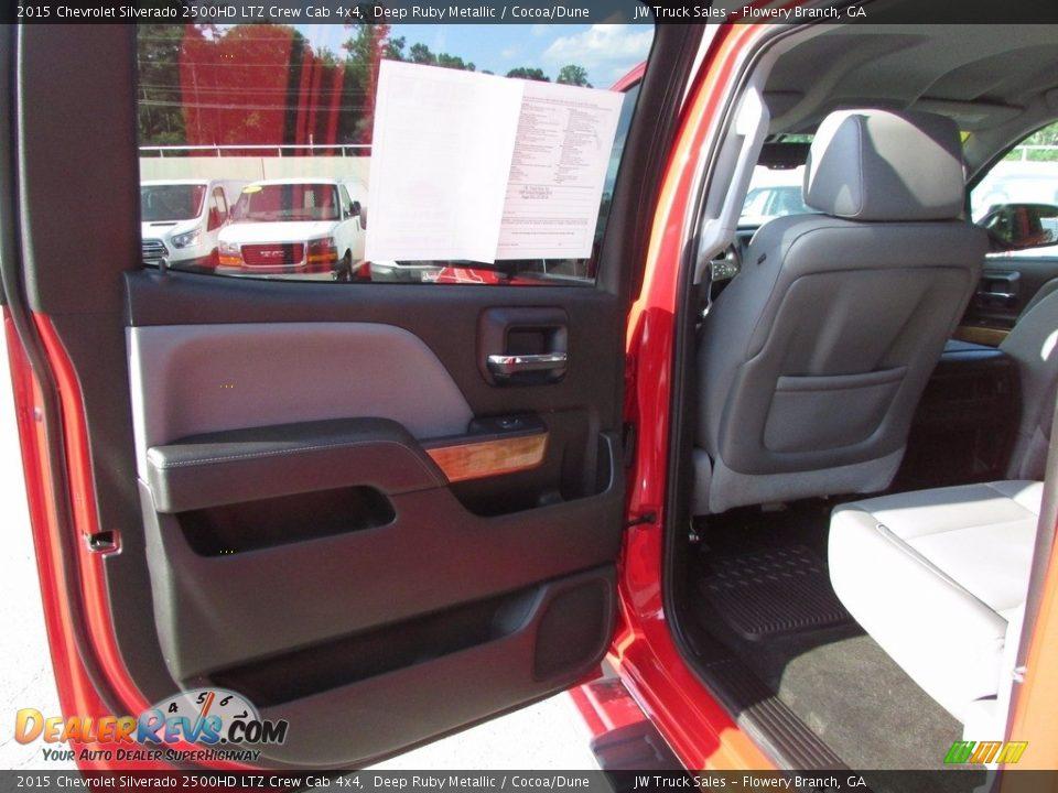 2015 Chevrolet Silverado 2500HD LTZ Crew Cab 4x4 Deep Ruby Metallic / Cocoa/Dune Photo #10