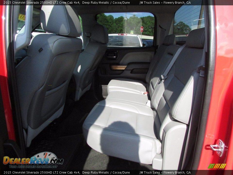 2015 Chevrolet Silverado 2500HD LTZ Crew Cab 4x4 Deep Ruby Metallic / Cocoa/Dune Photo #11