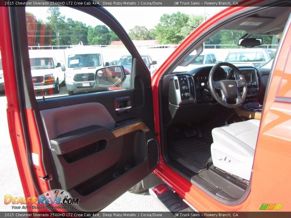 2015 Chevrolet Silverado 2500HD LTZ Crew Cab 4x4 Deep Ruby Metallic / Cocoa/Dune Photo #12