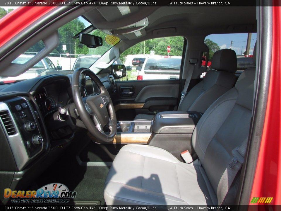 2015 Chevrolet Silverado 2500HD LTZ Crew Cab 4x4 Deep Ruby Metallic / Cocoa/Dune Photo #14
