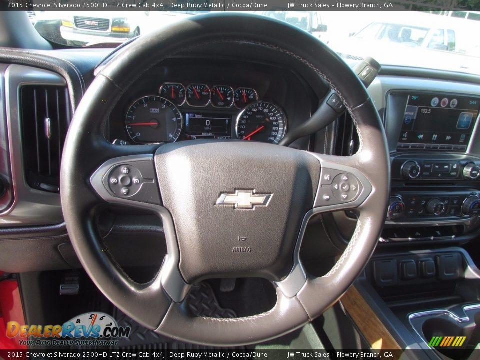 2015 Chevrolet Silverado 2500HD LTZ Crew Cab 4x4 Deep Ruby Metallic / Cocoa/Dune Photo #15