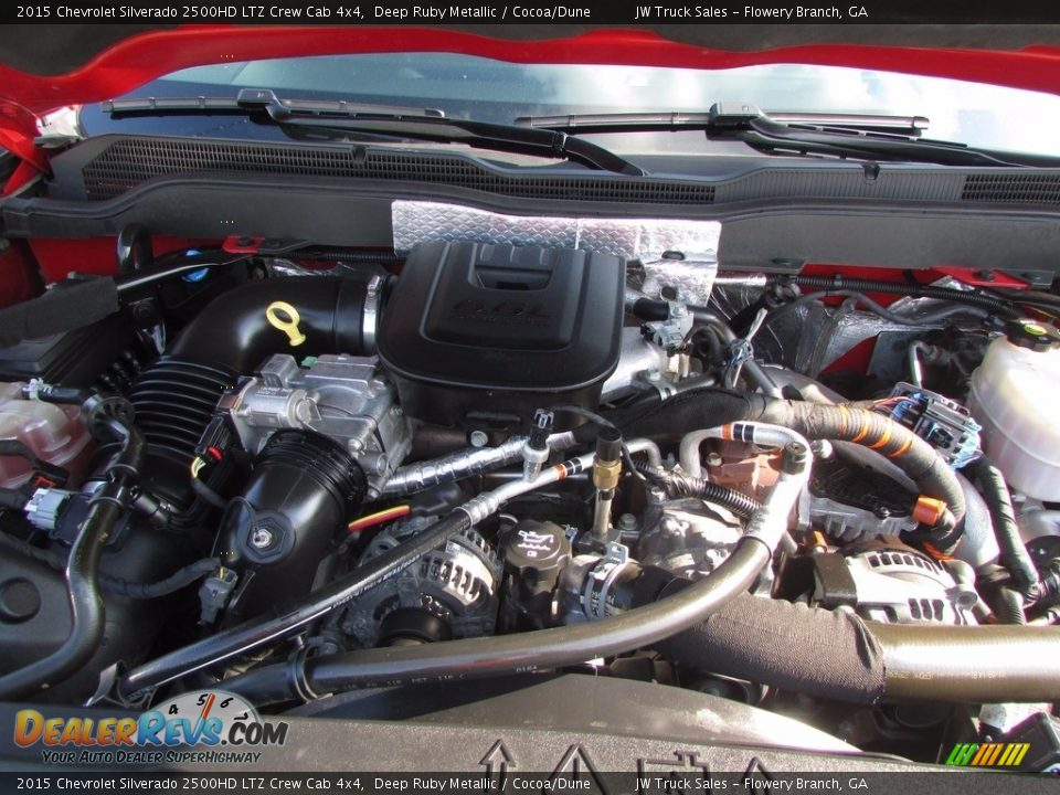 2015 Chevrolet Silverado 2500HD LTZ Crew Cab 4x4 Deep Ruby Metallic / Cocoa/Dune Photo #20