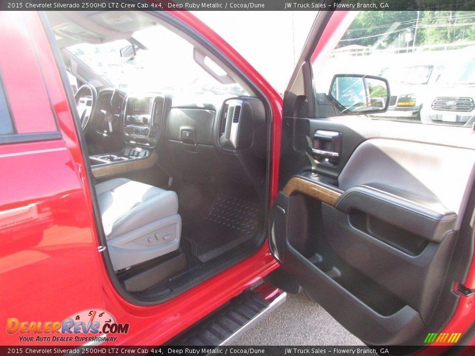 2015 Chevrolet Silverado 2500HD LTZ Crew Cab 4x4 Deep Ruby Metallic / Cocoa/Dune Photo #22