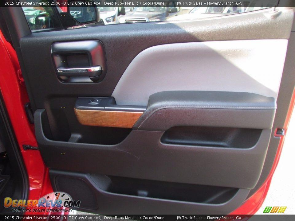 2015 Chevrolet Silverado 2500HD LTZ Crew Cab 4x4 Deep Ruby Metallic / Cocoa/Dune Photo #25