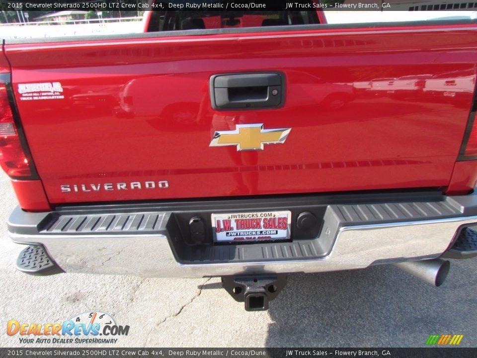 2015 Chevrolet Silverado 2500HD LTZ Crew Cab 4x4 Deep Ruby Metallic / Cocoa/Dune Photo #27