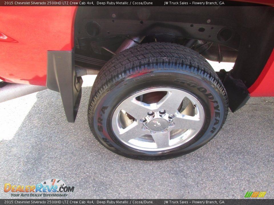 2015 Chevrolet Silverado 2500HD LTZ Crew Cab 4x4 Deep Ruby Metallic / Cocoa/Dune Photo #29
