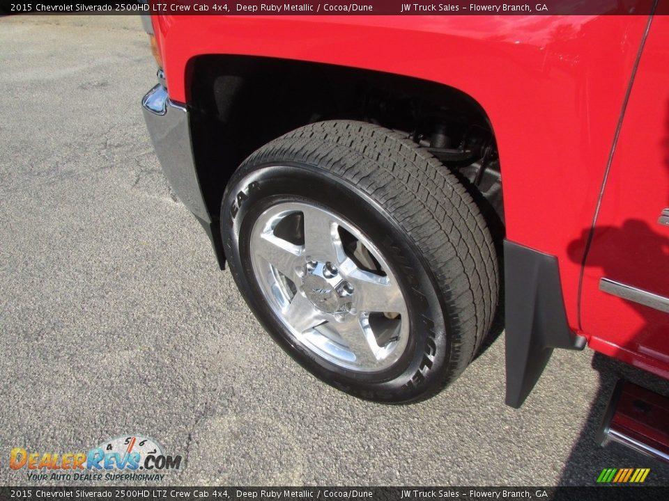 2015 Chevrolet Silverado 2500HD LTZ Crew Cab 4x4 Deep Ruby Metallic / Cocoa/Dune Photo #33