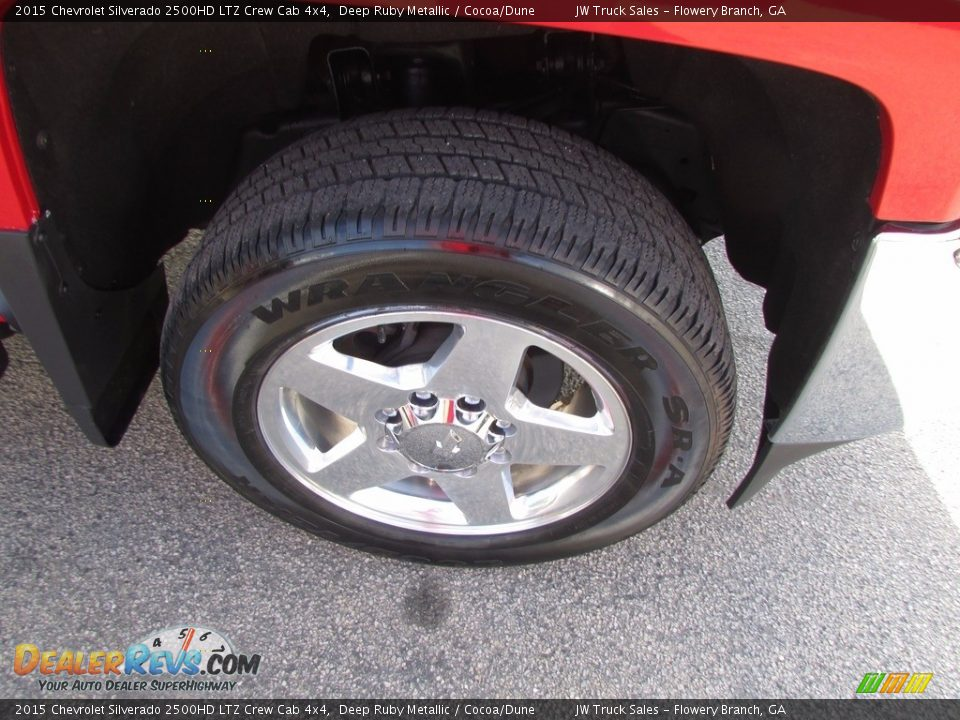 2015 Chevrolet Silverado 2500HD LTZ Crew Cab 4x4 Deep Ruby Metallic / Cocoa/Dune Photo #35