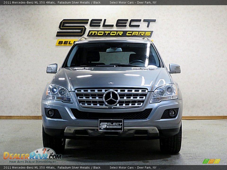 2011 Mercedes-Benz ML 350 4Matic Palladium Silver Metallic / Black Photo #2