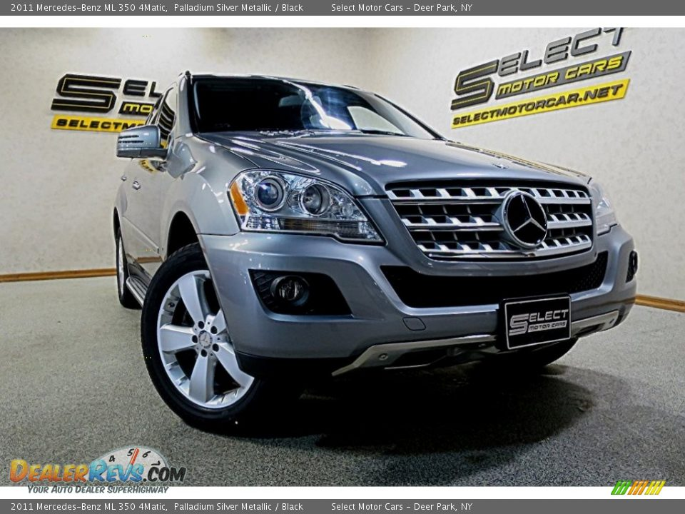 2011 Mercedes-Benz ML 350 4Matic Palladium Silver Metallic / Black Photo #6