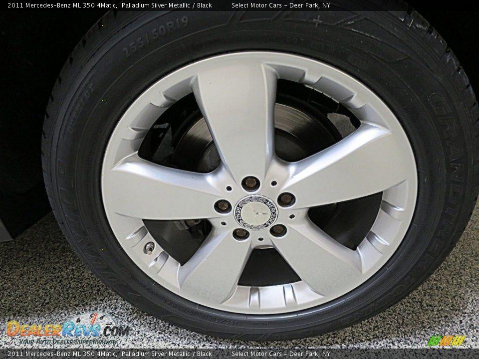 2011 Mercedes-Benz ML 350 4Matic Palladium Silver Metallic / Black Photo #10