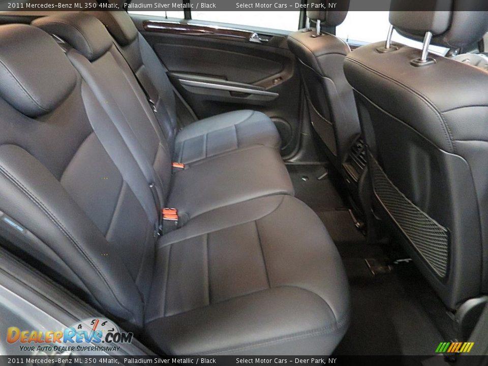 2011 Mercedes-Benz ML 350 4Matic Palladium Silver Metallic / Black Photo #15