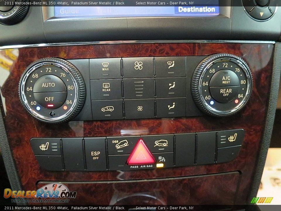 2011 Mercedes-Benz ML 350 4Matic Palladium Silver Metallic / Black Photo #23