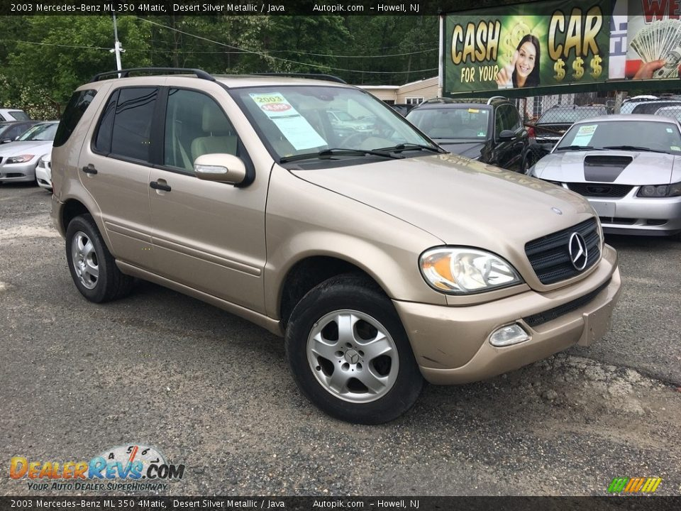 2003 Mercedes-Benz ML 350 4Matic Desert Silver Metallic / Java Photo #1