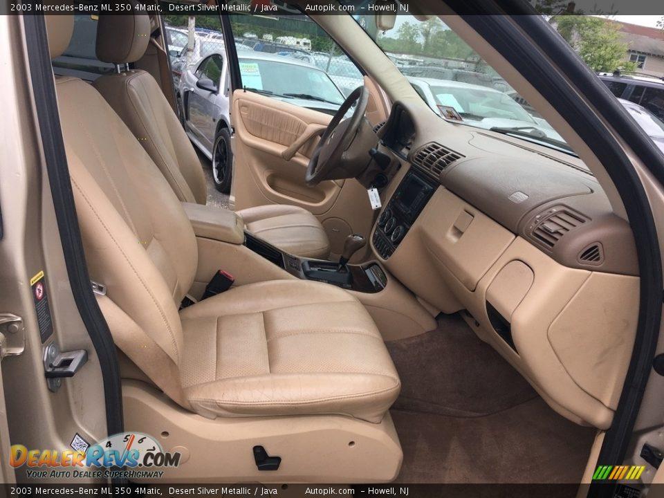 2003 Mercedes-Benz ML 350 4Matic Desert Silver Metallic / Java Photo #11