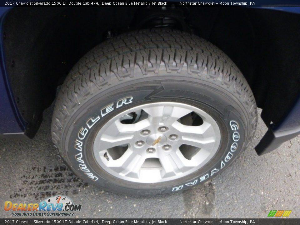 2017 Chevrolet Silverado 1500 LT Double Cab 4x4 Deep Ocean Blue Metallic / Jet Black Photo #8