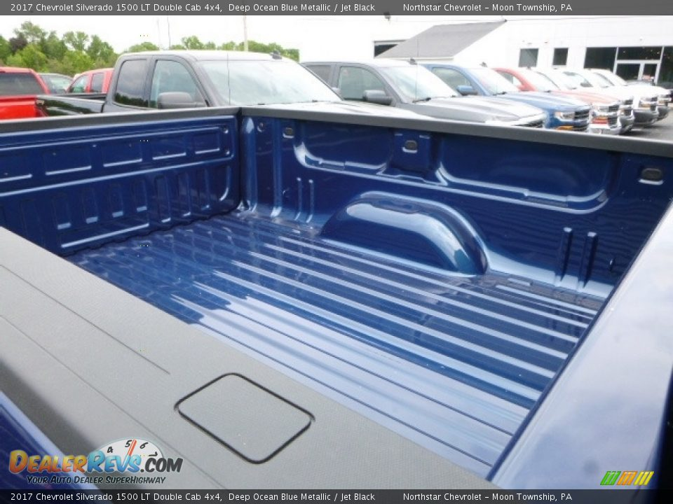 2017 Chevrolet Silverado 1500 LT Double Cab 4x4 Deep Ocean Blue Metallic / Jet Black Photo #11