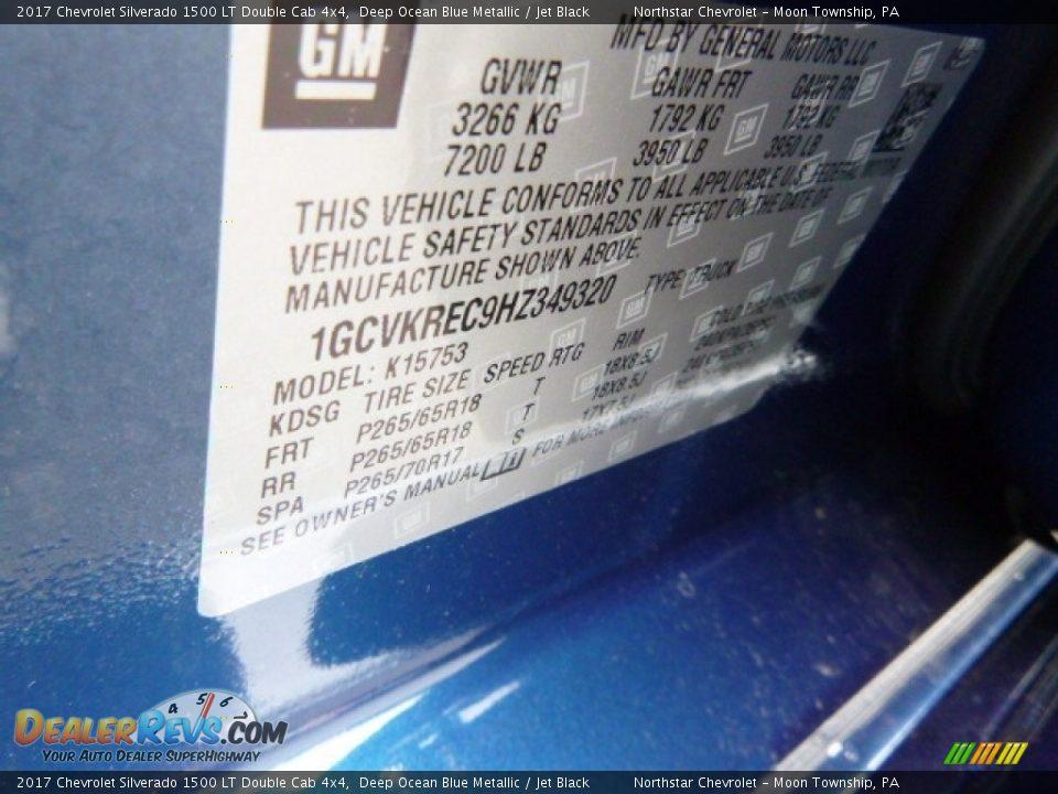 2017 Chevrolet Silverado 1500 LT Double Cab 4x4 Deep Ocean Blue Metallic / Jet Black Photo #16