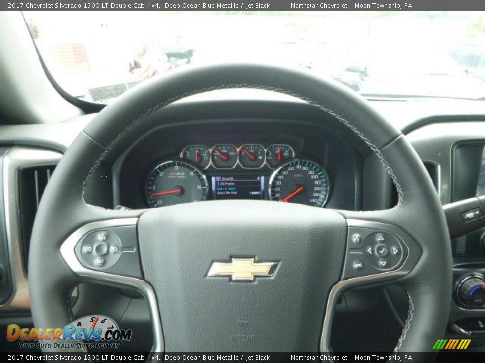 2017 Chevrolet Silverado 1500 LT Double Cab 4x4 Deep Ocean Blue Metallic / Jet Black Photo #20