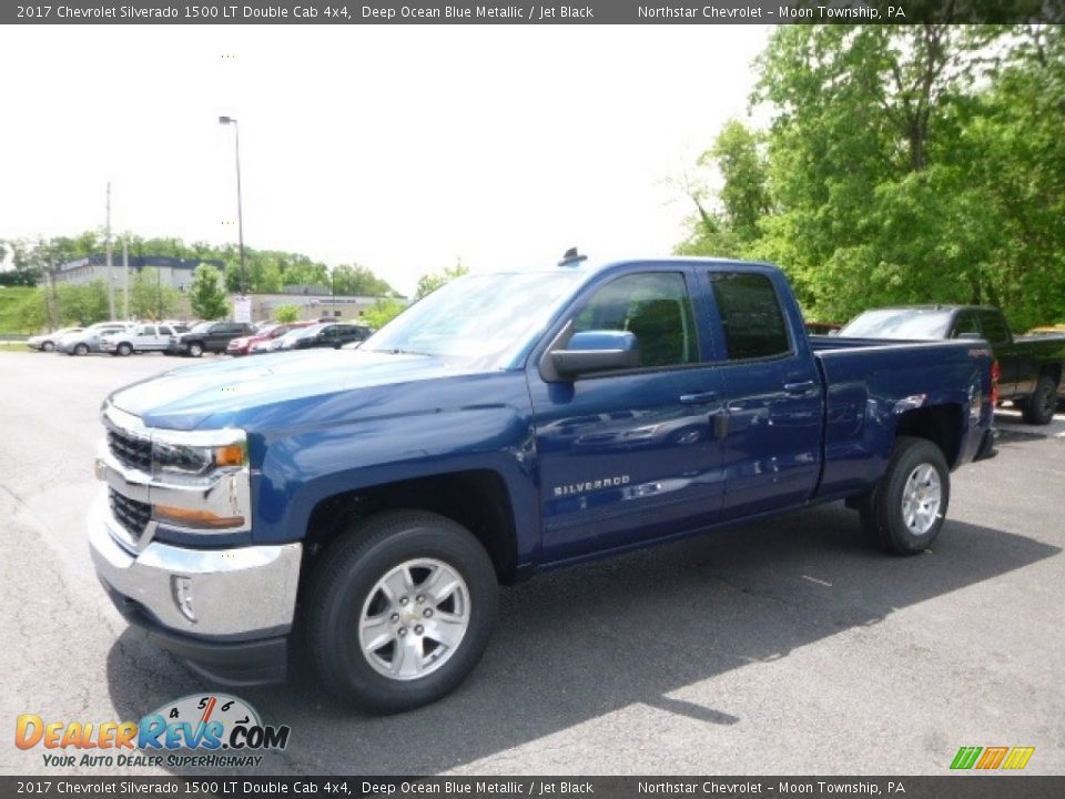 2017 Chevrolet Silverado 1500 LT Double Cab 4x4 Deep Ocean Blue Metallic / Jet Black Photo #1
