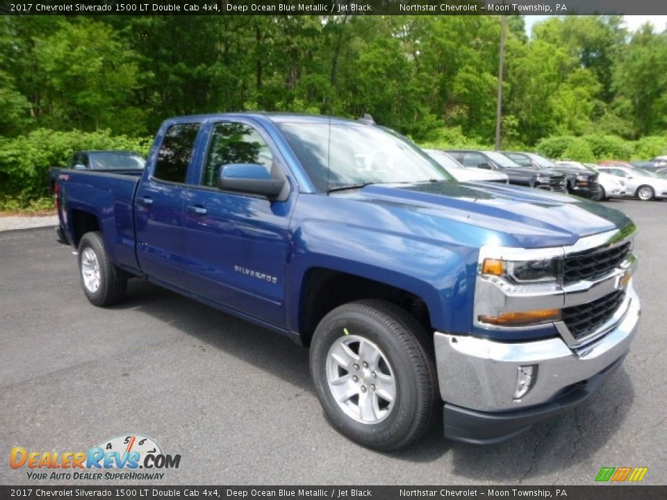2017 Chevrolet Silverado 1500 LT Double Cab 4x4 Deep Ocean Blue Metallic / Jet Black Photo #7