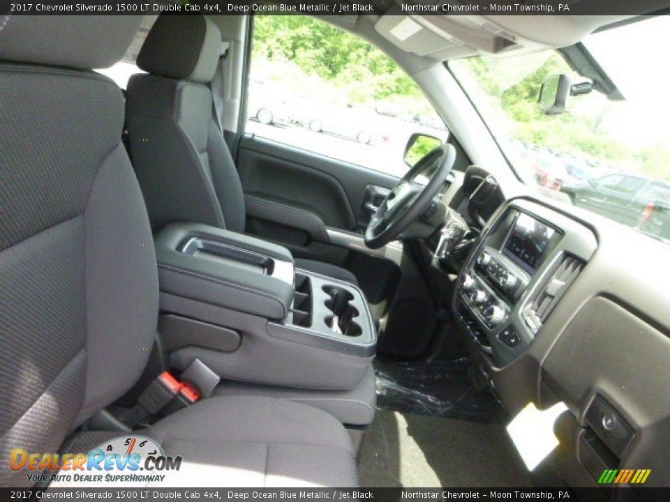 2017 Chevrolet Silverado 1500 LT Double Cab 4x4 Deep Ocean Blue Metallic / Jet Black Photo #10
