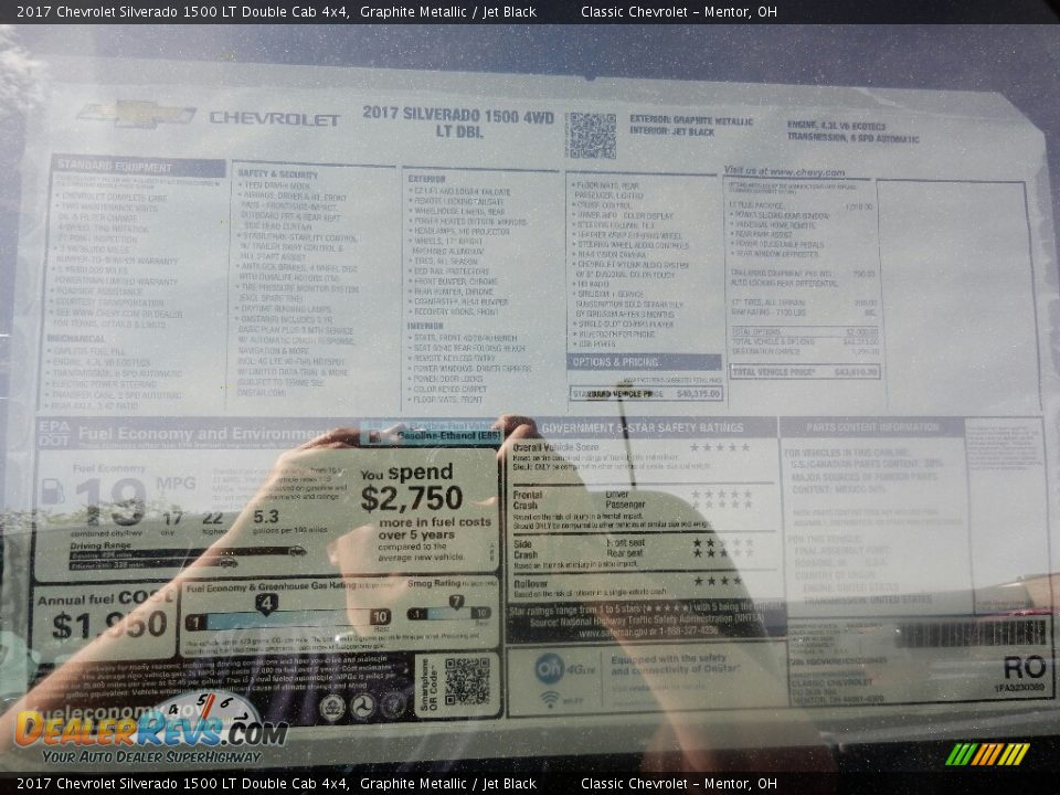 2017 Chevrolet Silverado 1500 LT Double Cab 4x4 Graphite Metallic / Jet Black Photo #6