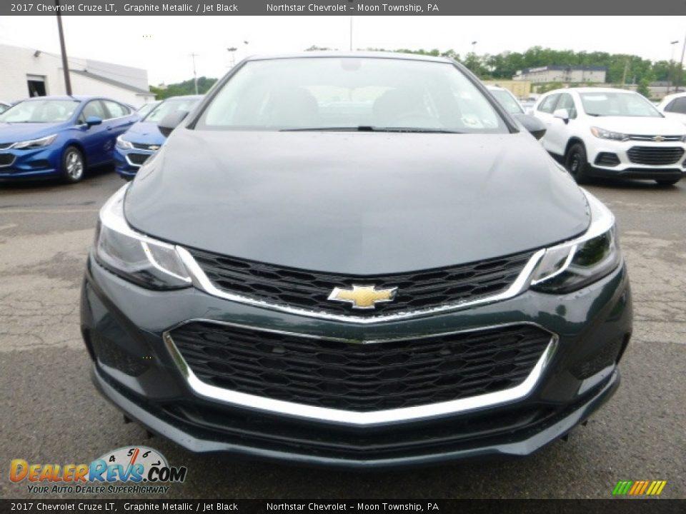 2017 Chevrolet Cruze LT Graphite Metallic / Jet Black Photo #8