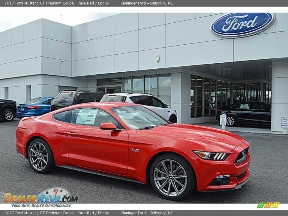 2017 Ford Mustang GT Premium Coupe Race Red / Ebony Photo #1