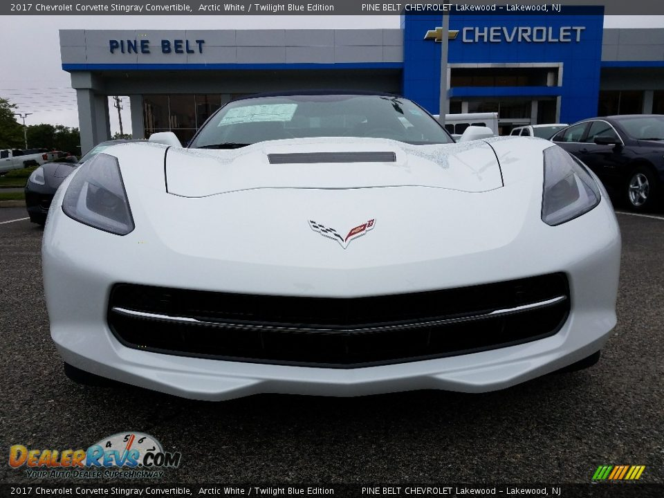 2017 Chevrolet Corvette Stingray Convertible Arctic White / Twilight Blue Edition Photo #2