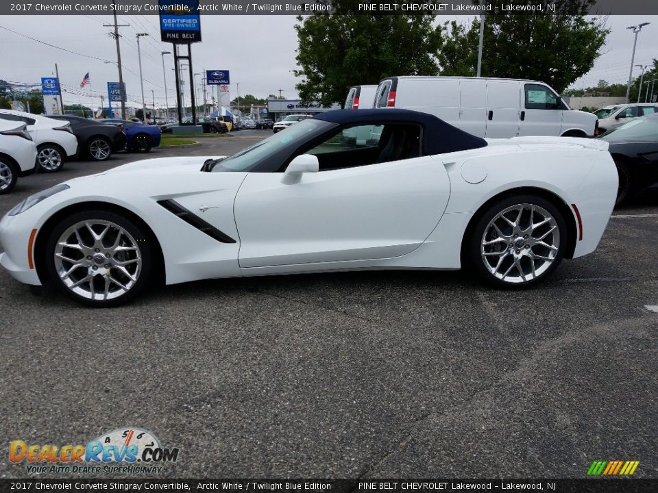 2017 Chevrolet Corvette Stingray Convertible Arctic White / Twilight Blue Edition Photo #3