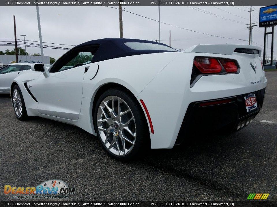 2017 Chevrolet Corvette Stingray Convertible Arctic White / Twilight Blue Edition Photo #4