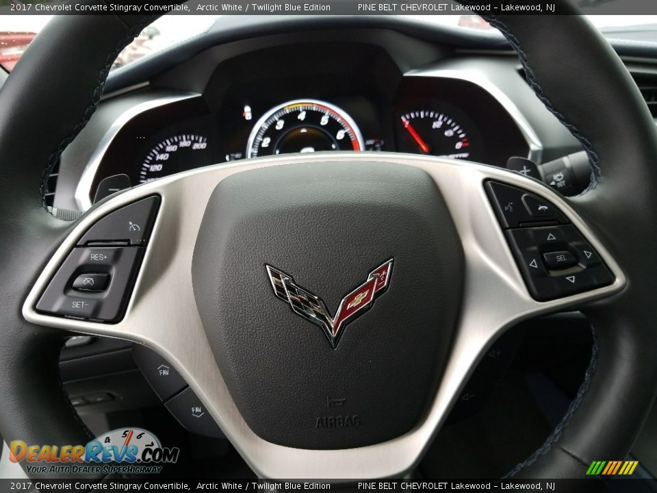 2017 Chevrolet Corvette Stingray Convertible Arctic White / Twilight Blue Edition Photo #10