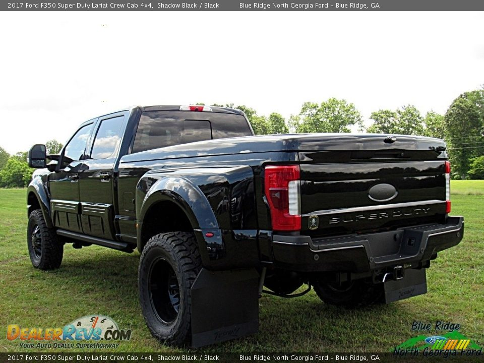 2017 Ford F350 Super Duty Lariat Crew Cab 4x4 Shadow Black / Black Photo #5